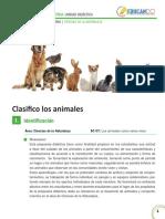 Clasifico a Los Animales
