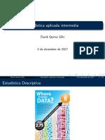 Estadistica Aplicada Intermedia (David Quiroz Sillo)