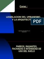 Legislacion y Urbanismo