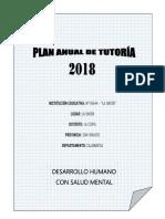 Plan Anual de Tutoría