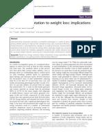Adaptaciones Metabolicas a La Perdida de Peso