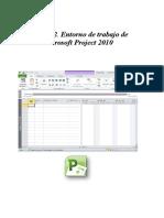 Modulo 2. Entorno de Trabajo de Microsoft Project 2010