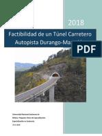 Factibilidad de Un Túnel de La Autopista Durango 21-04-2018