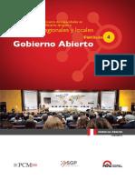Fasciculo 4 Gobierno Abierto  - Programa de fortalecimiento de capacidades en materia de Gobierno Abierto dirigido a Gobiernos Regionales y Locales