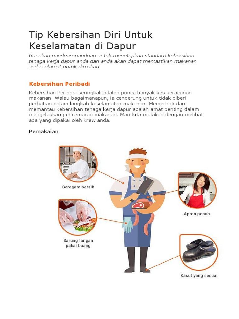 Tip Kebersihan Diri Untuk Keselamatan Di Dapur