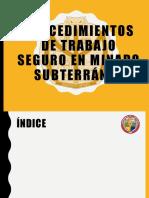Procedimientos de Trabajo Seguro en Minado Subterráneo