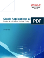 Oracle Applications Cloud - Update Policy V2