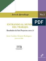 Entrando Al Mundo Del Trabajo- Resultados de Seis Proyectos Entra21