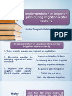 Implementation of irrigation plan during irrigation water scarcity