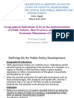 Geographical Indications in the Implementation of Public Policies Best Practices and the Socio-Economic Dimensions of GIs