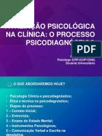 Minicurso Avaliação Psicológica Na Clínica Adulto
