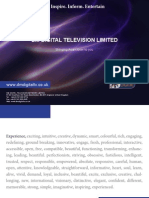 DM Digital TV Network Corporate Brochure