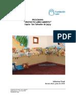 Fundacin Leer Informe Final Proyecto Libro Abierto en Uqua