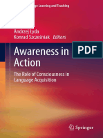 Awareness in Action the Role of Consciousness in Language Acquisition