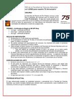 Concurso de Diseño 75 Aniversario 30 de Abril de 2018-Con Formulario Adjunto