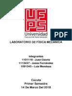 Incertidumbre - Fisica Mecanica UFPS