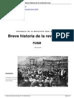 Breve Historia de La Revolucion Rusa -  Isaac Deutscher