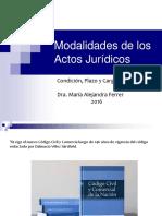 Modalidades de Los Actos Jurídicos
