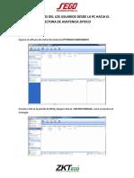 Cargar Datos de Usuario de Pc Al Dispositivo Zkteco