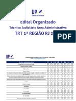 Técnico Judiciário Área Administrativa Trt 1ªregião Rj 2018