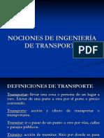 Nociones de Ingeniería de Transporte