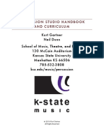 2016 percussion studio handbook