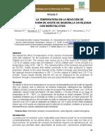 Efecto de La Temperatura en La Reacción de Transesterificación de Aceite de Higuerilla