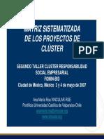 Matriz Sistematizada de Los Proyectos Del Cluster