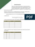 Standard Deviation Instructions