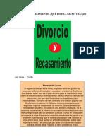 Divorcio y Recasamiento