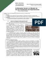 El Estado de Bienestar Social y El Modelo de Sustitucion de Importaciones
