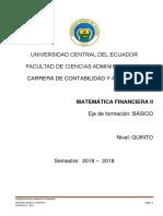 Sílabo Matemática Financiera II-CA