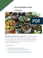 Resep Masakan Sederhana Untuk Sehari