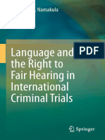 Catherine S. Namakula (Auth.) - Language and the Right to Fair Hearing in International Criminal Trials (2014, Springer International Publishing)