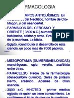 1- Historia y Ramas de La Farmacologia