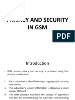 Privacy and Security in GSM