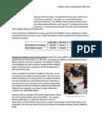 Children's Library 2009-2010 Annual Report