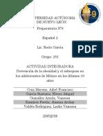 Actividad Integradora Español 2 Etapa 1
