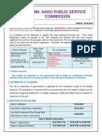 TNSPSC Recruitment 2018 for 192 Agriculture Officer Jobs in Tamilnadu