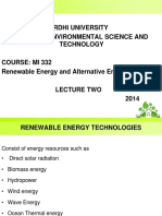 Mi 332, Re Technologies Lecture 2