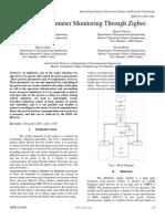 Industrial Parameter Monitoring Through Zigbee