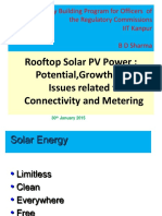 Rooftop PV - Mr. B D Sharma
