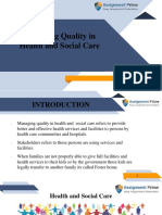 Quality Management in Health and Social Care Services