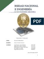 Informe Procesos de Manufactura (Moldeo y Colada)