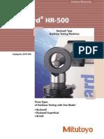 Mitutoyo - Twardościomierze Rockwell Wizhard HR-500 - E4177-810 - 2007 EN