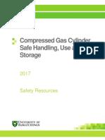 Compressed Gas Cylinder Safe Handling Use and Storage