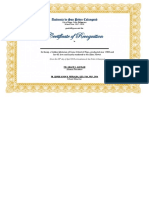 Certificate of Appreciation-Golden