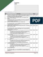 Inspection Check List - Portable Fire Extinguishers Rev 00