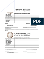 School Office Supply Requisition Form