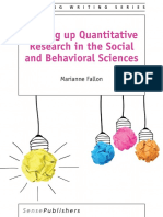 Writing Up Quantitative Research in the Social and Behavioral Sciences (2016) by Marianne Fallon